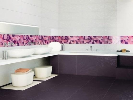 salle de bains violette 33 id es pour vous convaincre. Black Bedroom Furniture Sets. Home Design Ideas