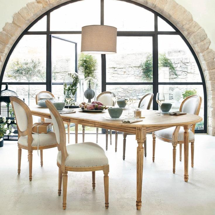 La salle manger atelier retour au style classique chez maisons du monde - Table salle a manger maison du monde ...