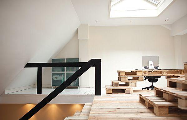 Amsterdam am nagement d 39 un bureau 100 palettes en bois for Bureau ultra moderne