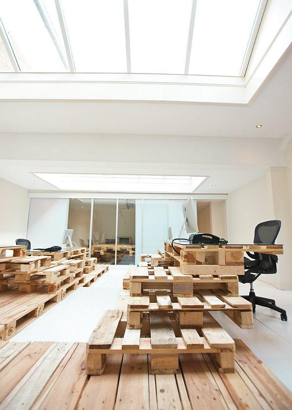 Am nagement d 39 un bureau en palettes amsterdam moderne - Ne jetez plus vos clic clacs changez leurs housses ...
