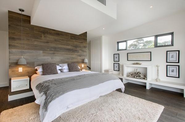 chambre classique simple et très moderne avec bois
