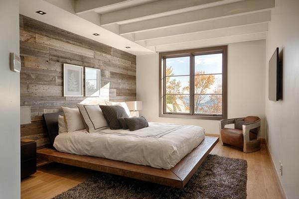 Mur En Bois Chambre : chambre-mur-palettes-20
