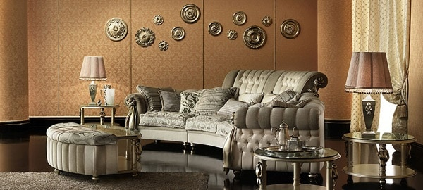15 id es de salon design aux accents baroques moderne house 1001 photos - Salon baroque design ...