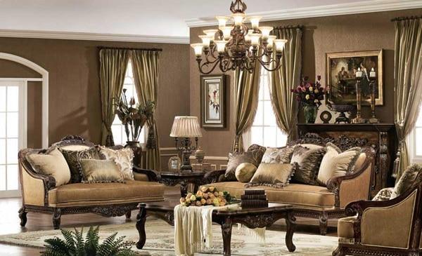 15 id es de salon design aux accents baroques moderne house 1001 photos inspirations. Black Bedroom Furniture Sets. Home Design Ideas