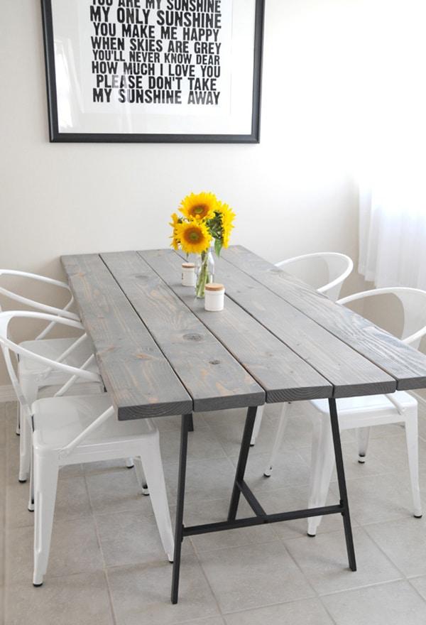 tables diy 11 mod 232 les pour s initier au quot fait main dining table make dining table frame