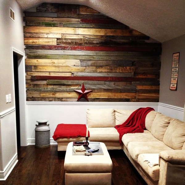 Mur Avec Bois De Palette : Rooms with Pallet Wood Walls