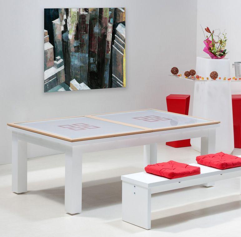 Une table de billard convertible design pour surprendre ses invit s moderne - Table de salle a manger billard ...