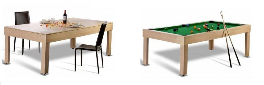 Une table de billard design convertible pour surprendre ses invit s - Table de billard transformable ...