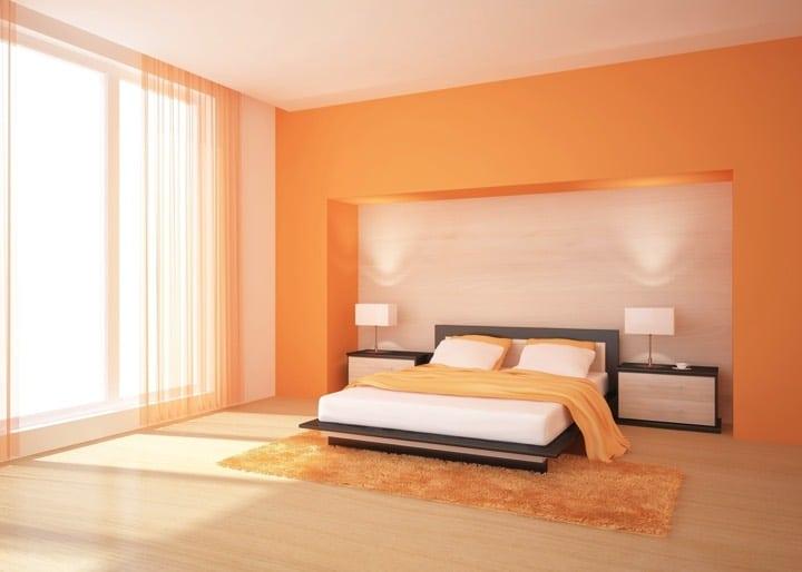 chambre orange 21 exemples pour distiller chaleur et intimit. Black Bedroom Furniture Sets. Home Design Ideas