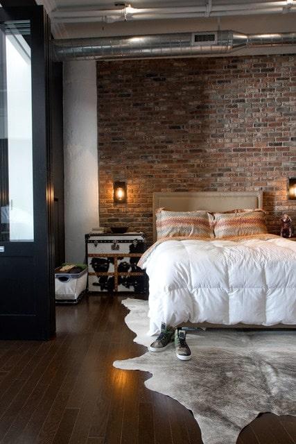 chambre de style industriel 28 id es pour une chambre chic et urbaine. Black Bedroom Furniture Sets. Home Design Ideas