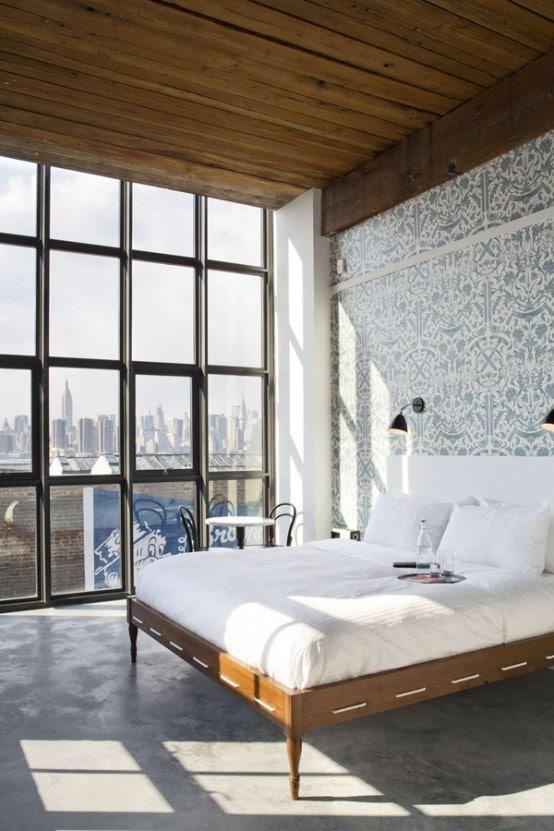 28 id es de chambres au style industriel moderne house - Chambre style loft industriel ...