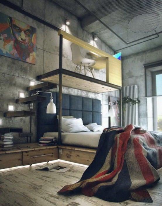 chambre-style-industriel-4