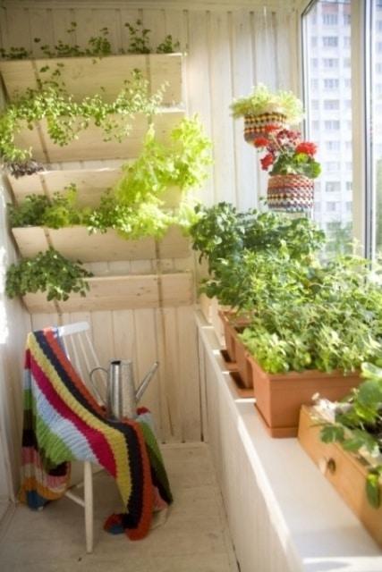 Am nagement de petit balcon 40 id es d coration - Idee deco petit balcon ...