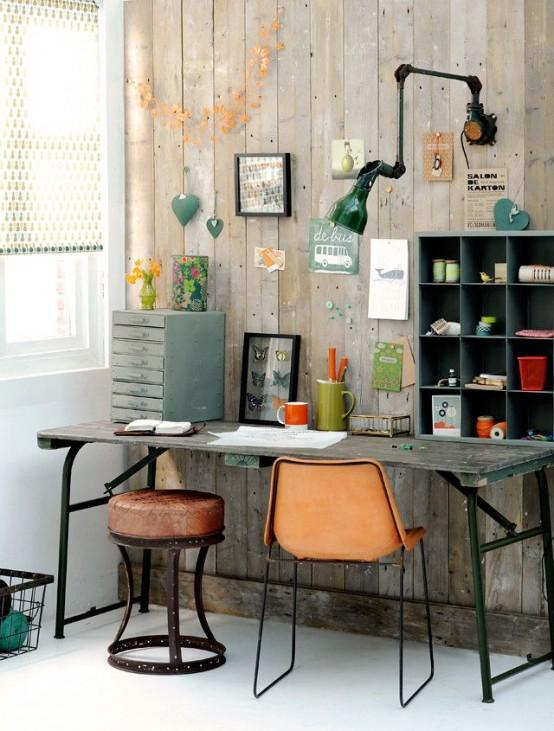 bureau de style industriel 23 id es et conseils d 39 am nagement. Black Bedroom Furniture Sets. Home Design Ideas