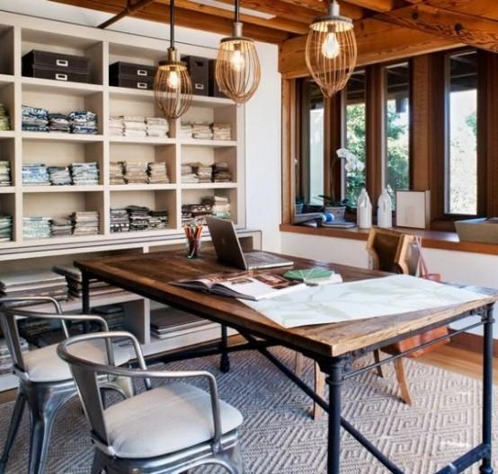Bureau de style industriel: 23 idées et conseils d\'aménagement
