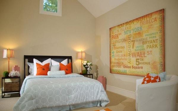 Deco Chambre Orange Et Beige : Chambre avec accessoires orange with et beige
