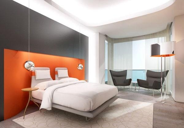 Chambre orange 15 exemples pour distiller chaleur et intimit moderne house 1001 photos for Decoration chambre camaieu orange