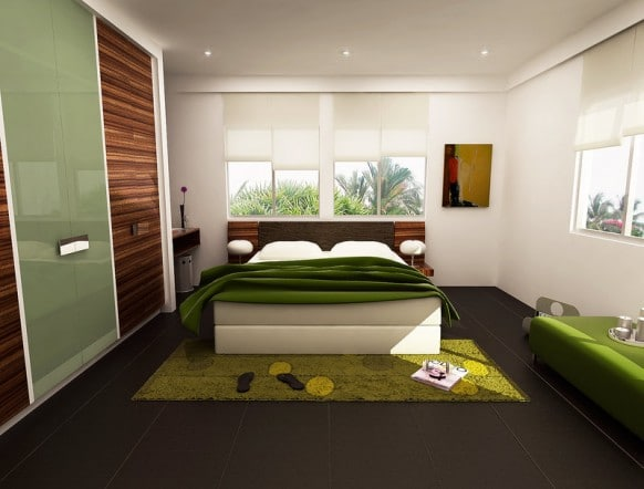 chambre verte 15 id es et inspirations d co pour nous apaiser. Black Bedroom Furniture Sets. Home Design Ideas