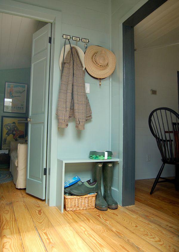 aménagement d'une petite entrée sans armoire