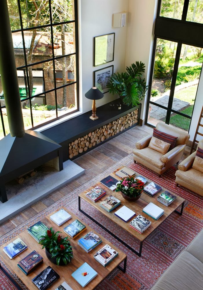 id es rangement pour le bois de chemin e dans votre int rieur. Black Bedroom Furniture Sets. Home Design Ideas