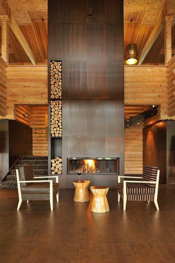 Id es rangement pour le bois de chemin e dans votre int rieur - Rangement bois interieur ...