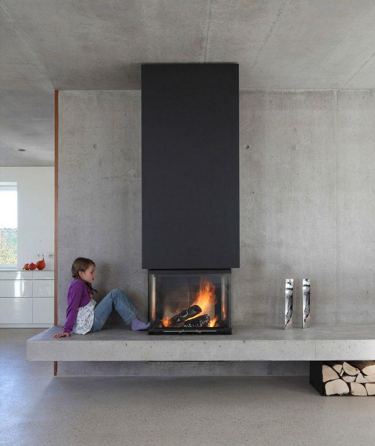 Idées rangement pour le bois de cheminée dans votre intérieur # Cheminée Bois Moderne