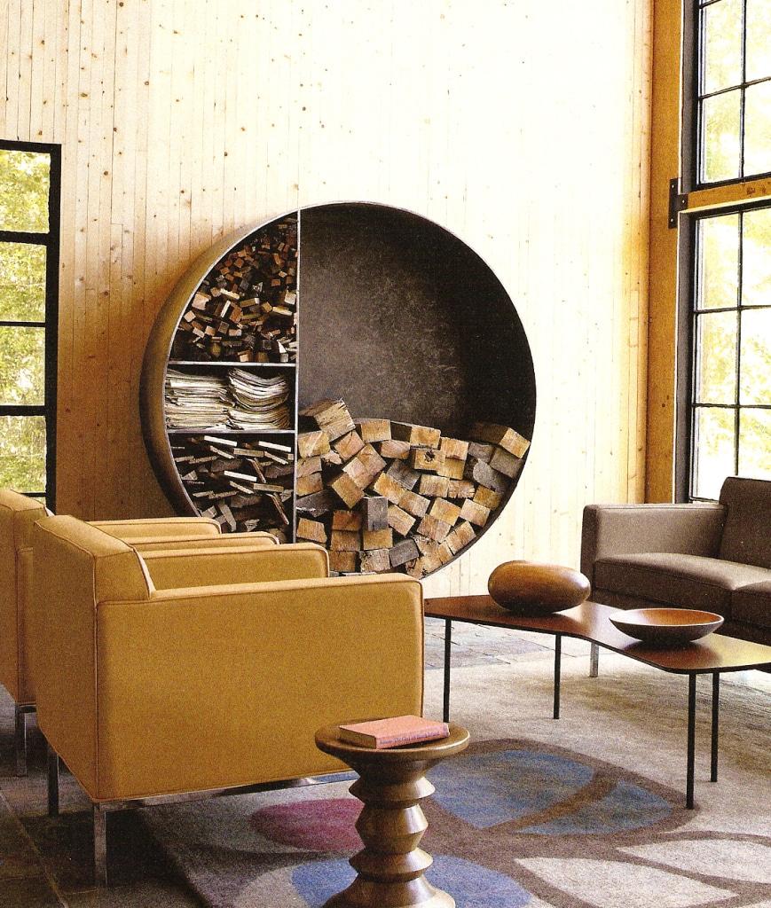 Rangement Pour Le Bois rangement du bois de cheminée: 35 astuces et idées originales