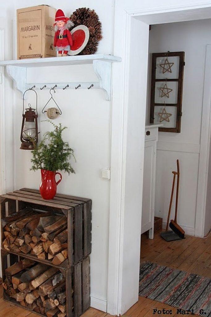 Id es rangement pour le bois de chemin e dans votre - Idees rangement pour le bois de cheminee ...