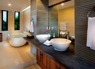 Salle de bain moderne house 1001 photos inspirations - Idees deco de salle de bain au style tropical ...