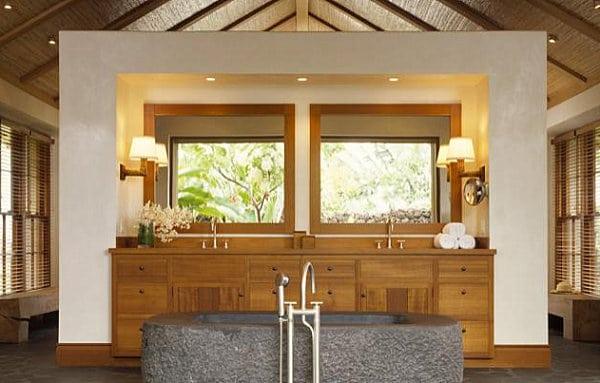 12 id es d co de salle de bain au style tropical moderne - Idees deco de salle de bain au style tropical ...