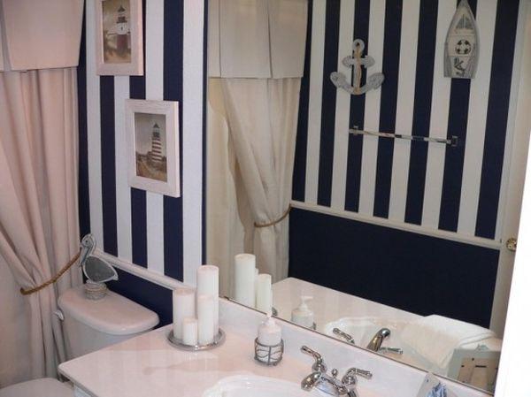 Salle de bain style marin 11 id es pour vous inspirer - Deco mer salle de bain ...