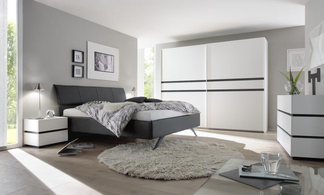 Chambre grise et blanche 19 id es zen et modernes pour se for Meuble de chambre moderne