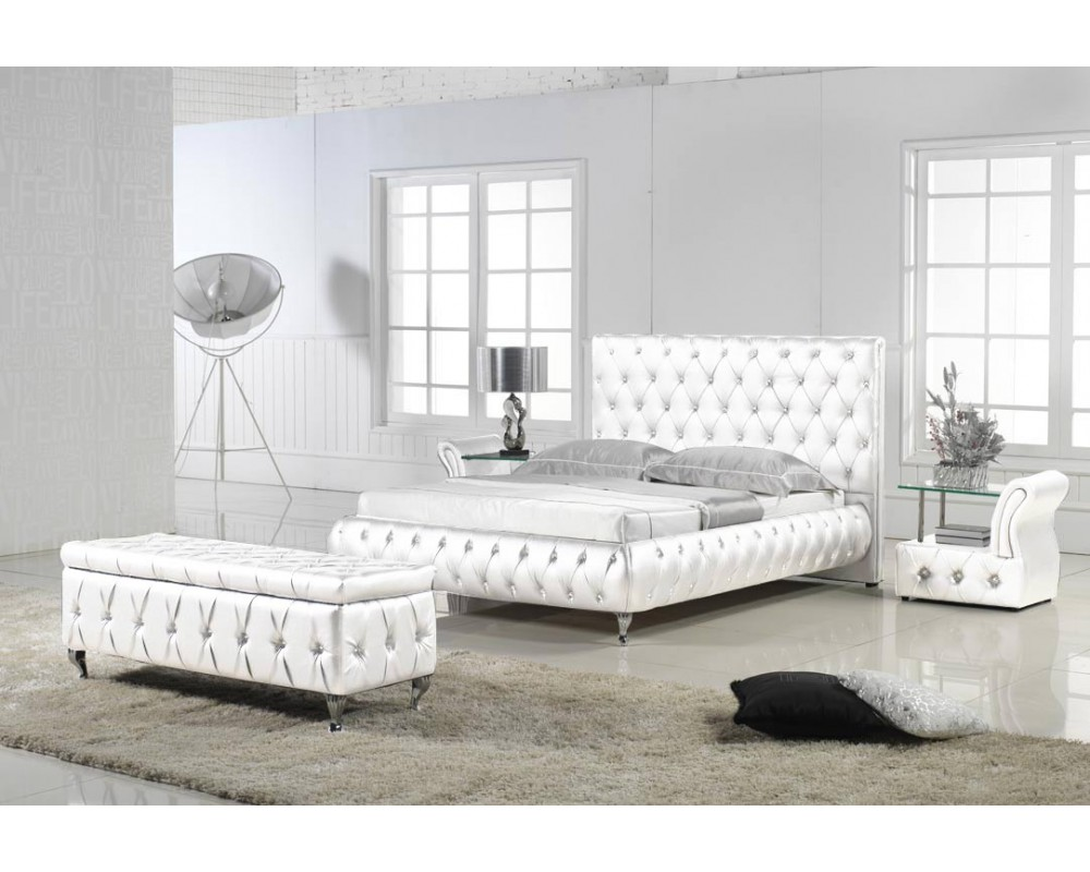 chambre moderne blanc gris. Black Bedroom Furniture Sets. Home Design Ideas