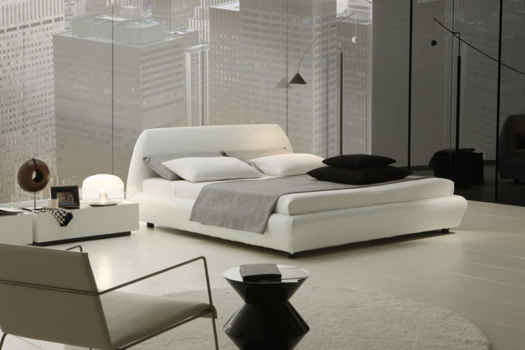 Chambre grise et blanche 19 id es zen et modernes pour se for Chambre parentale grise