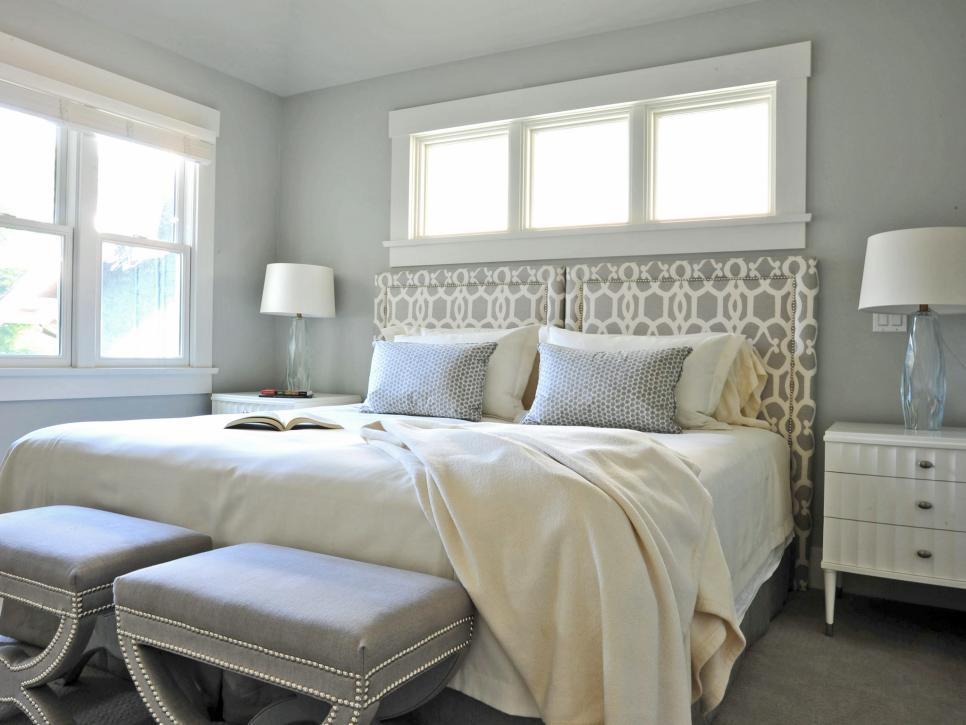 Chambre grise et beige chambres colores qui nous inspirent with chambre grise et beige la for Chambre gris clair