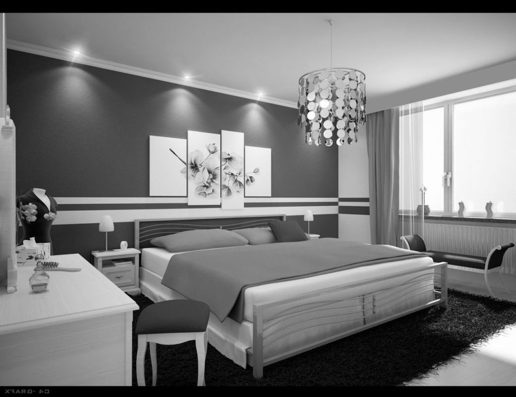 chambre grise et blanche 19 id es zen et modernes pour se. Black Bedroom Furniture Sets. Home Design Ideas