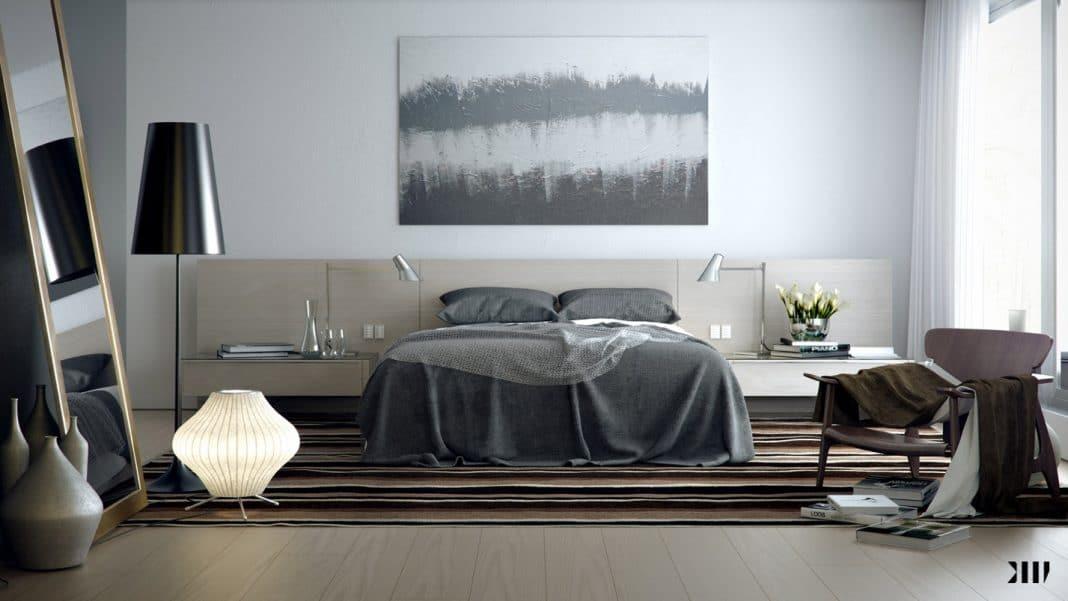 Chambre grise et blanche 19 id es zen et modernes pour se d marquer for Chambre gris clair