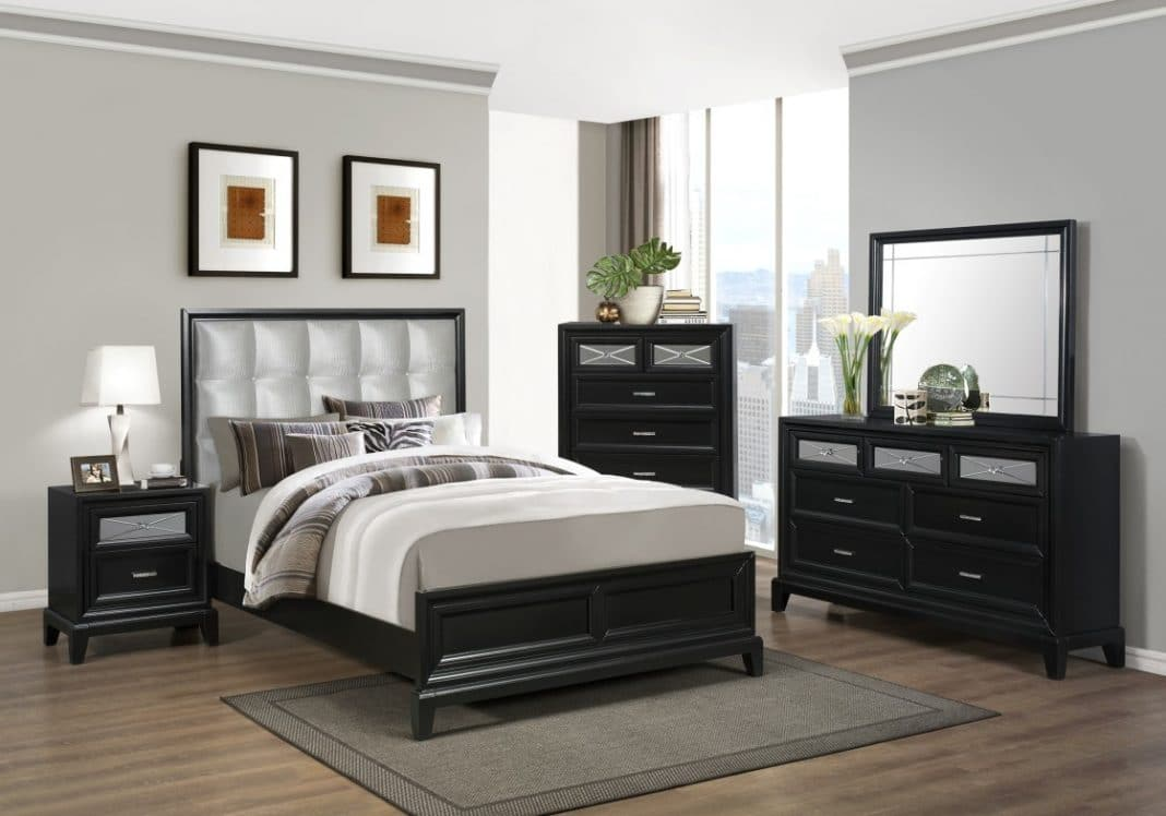 chambre grise un choix original et judicieux moderne house 1001 photos inspirations. Black Bedroom Furniture Sets. Home Design Ideas