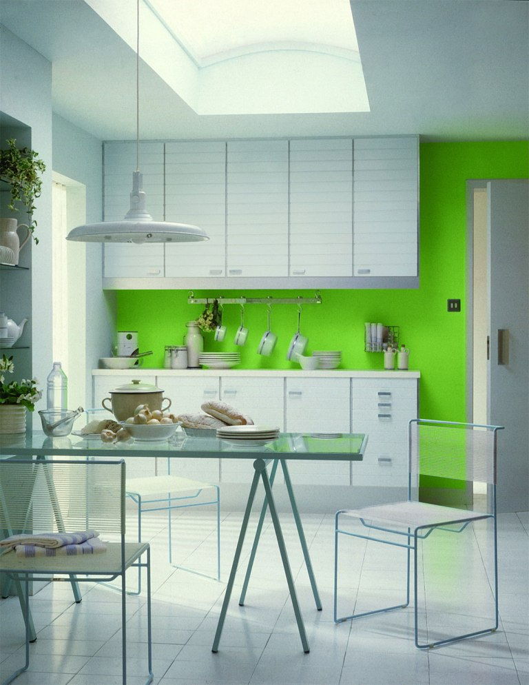 Perfect with cuisine mur vert - Cuisine mur vert pomme ...