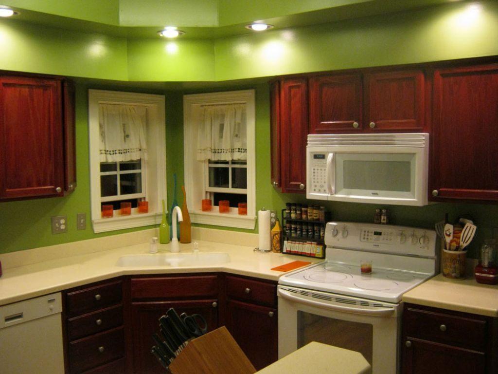 interesting with mur vert pomme. Black Bedroom Furniture Sets. Home Design Ideas