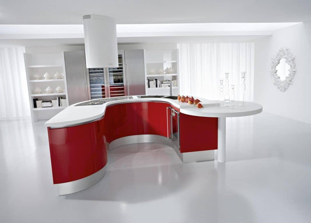 Cuisine rouge et blanc