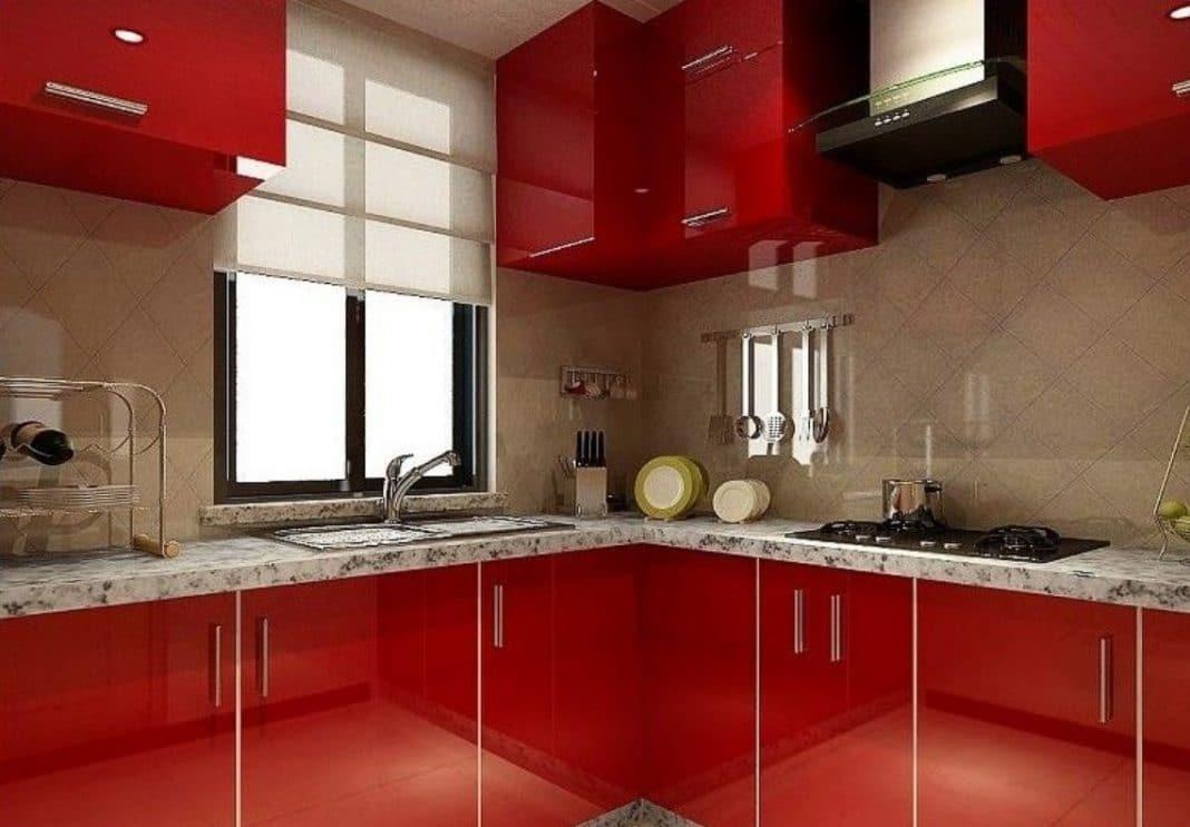 Cuisine moderne rouge bordeaux - Cuisine rouge bordeaux ...