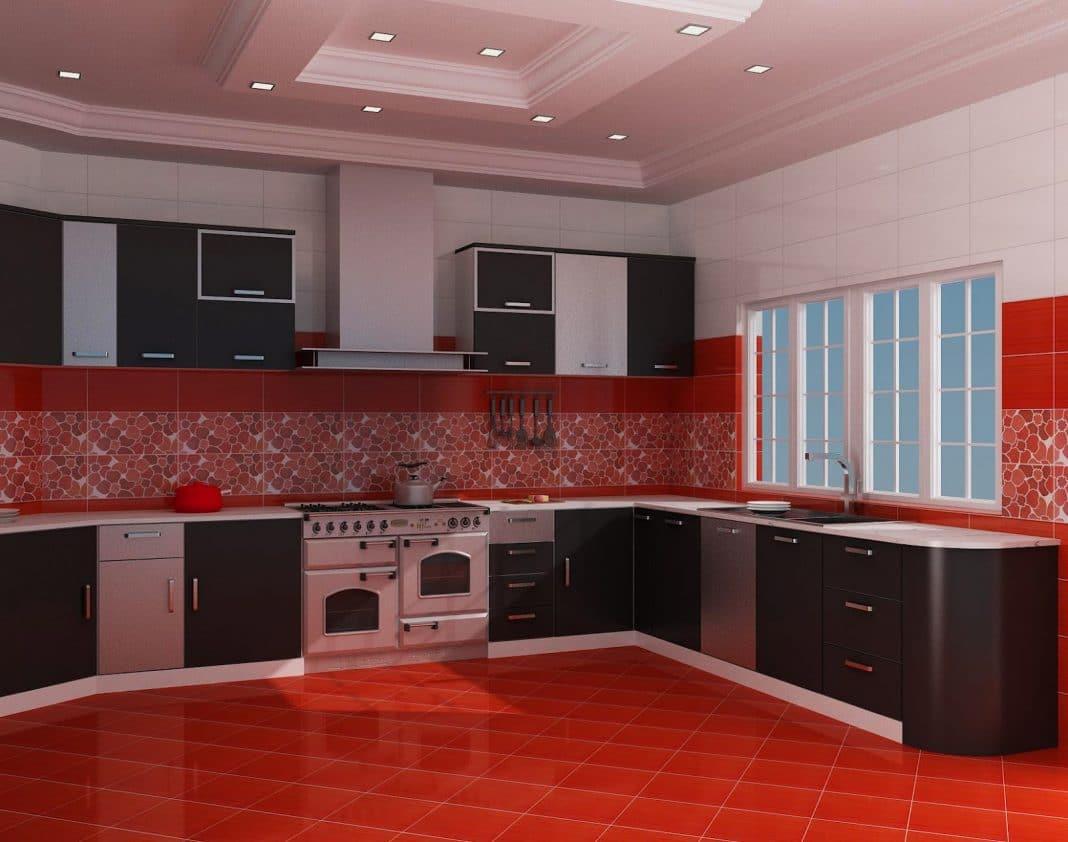 Cuisine l 39 association du rouge et noir entre vintage et design - Cuisine moderne rouge et noir ...
