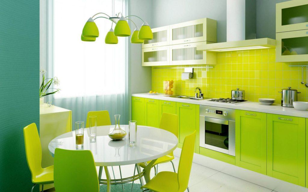 Cuisine verte 60 photos et conseils d co pour une cuisine for Cuisine verte