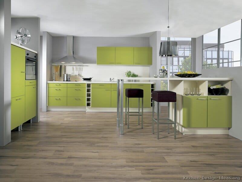 Chambre Scandinave Blanche : Cuisine verte 60 photos et conseils déco pour une cuisine pleine de