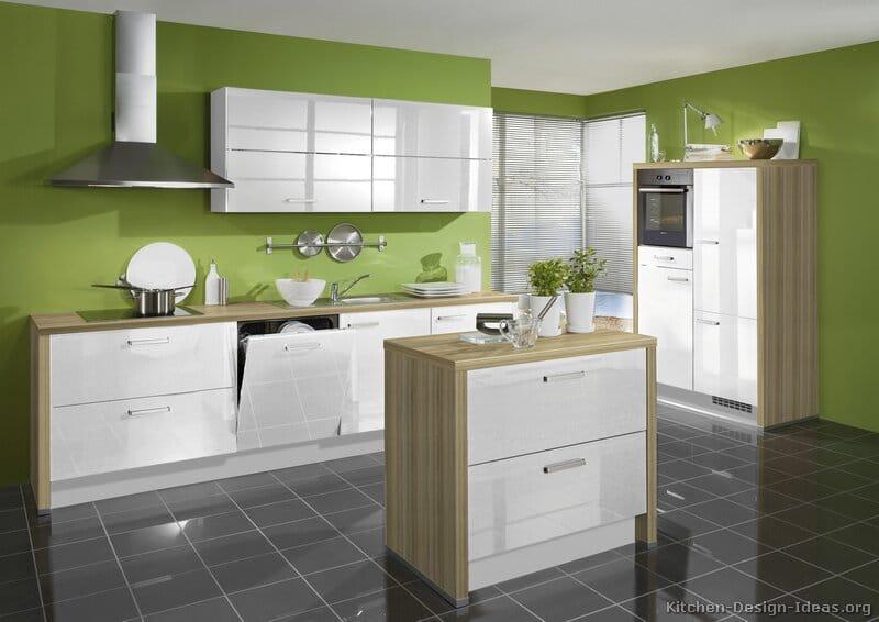 Cuisine verte 60 photos et conseils d co pour une cuisine pleine de peps - Cuisine blanche et verte ...