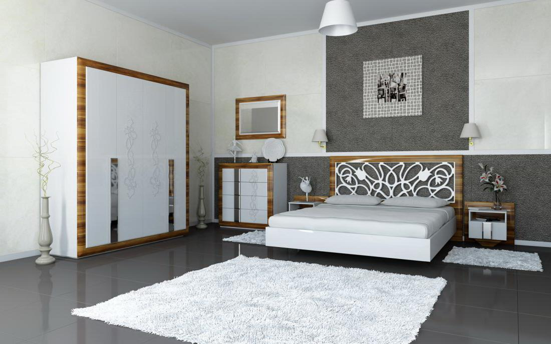 chambre grise un choix original et judicieux moderne. Black Bedroom Furniture Sets. Home Design Ideas