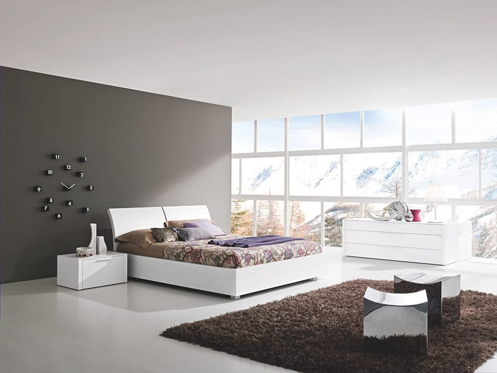Déco chambre grise et blanche