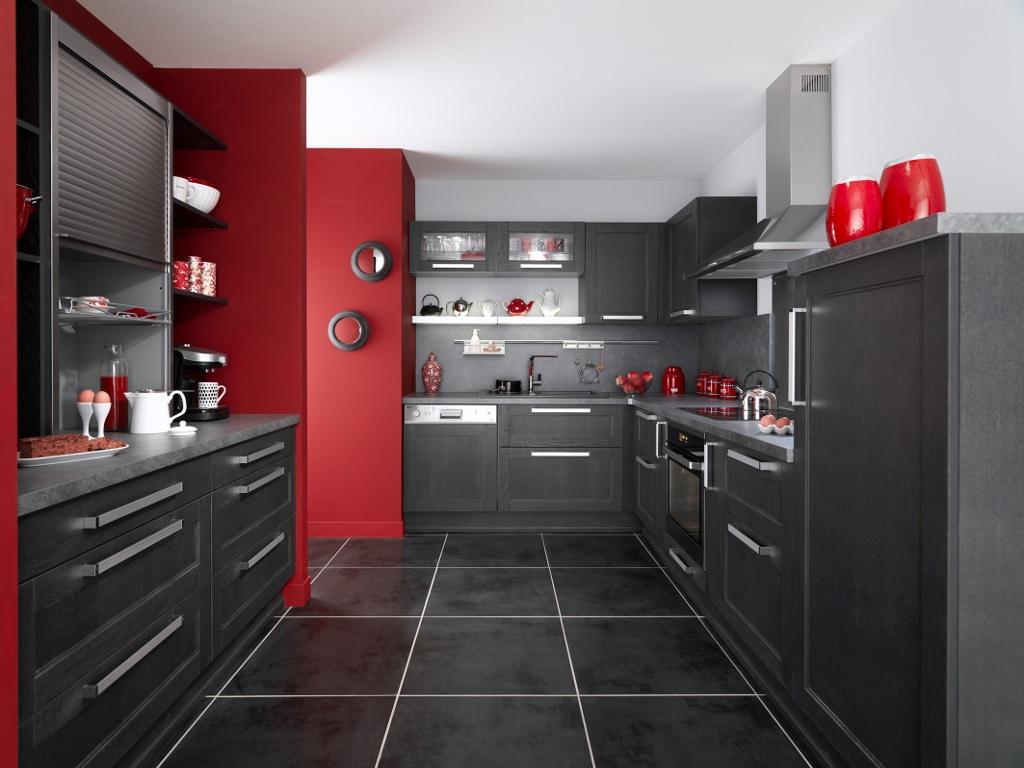 cuisine rouge et grise 35 photos la cuisine tendance et