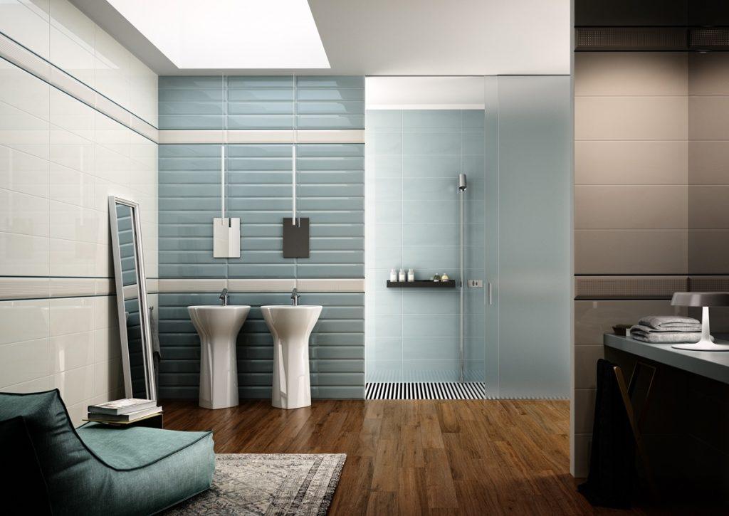 gris et bleu: deux couleurs en osmose dans la salle de bain (23 ... - Salle De Bain Bleu Et Gris